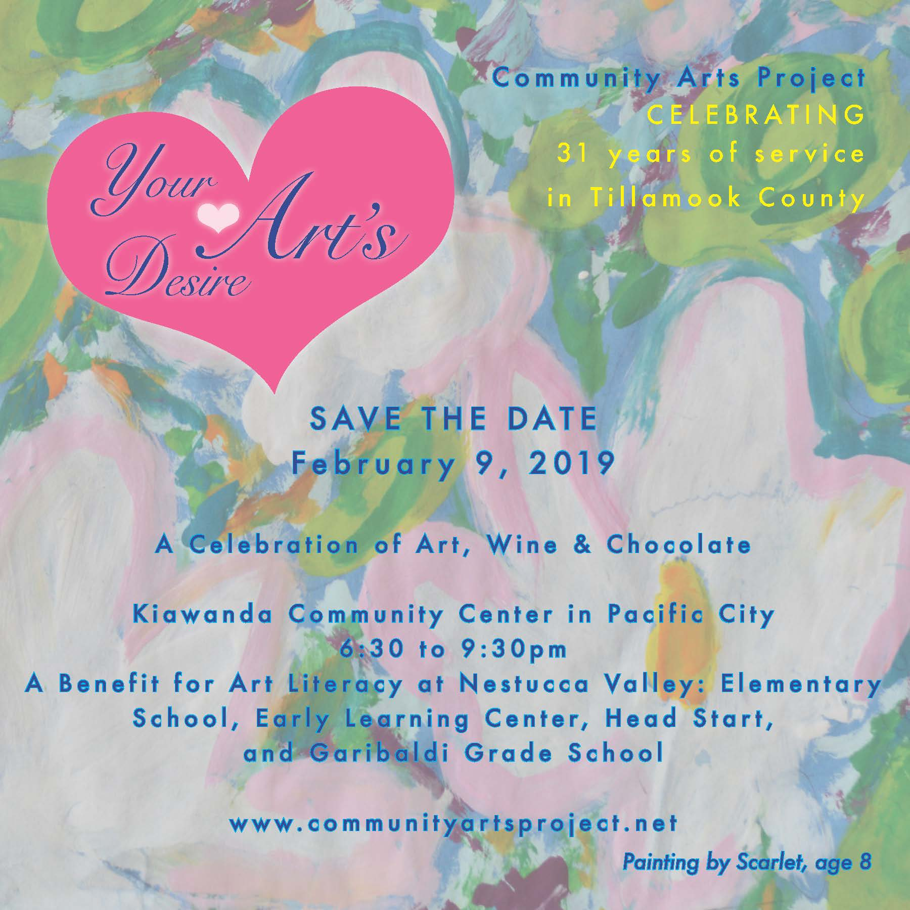 Your Arts Desire 2019 Save the Date Final