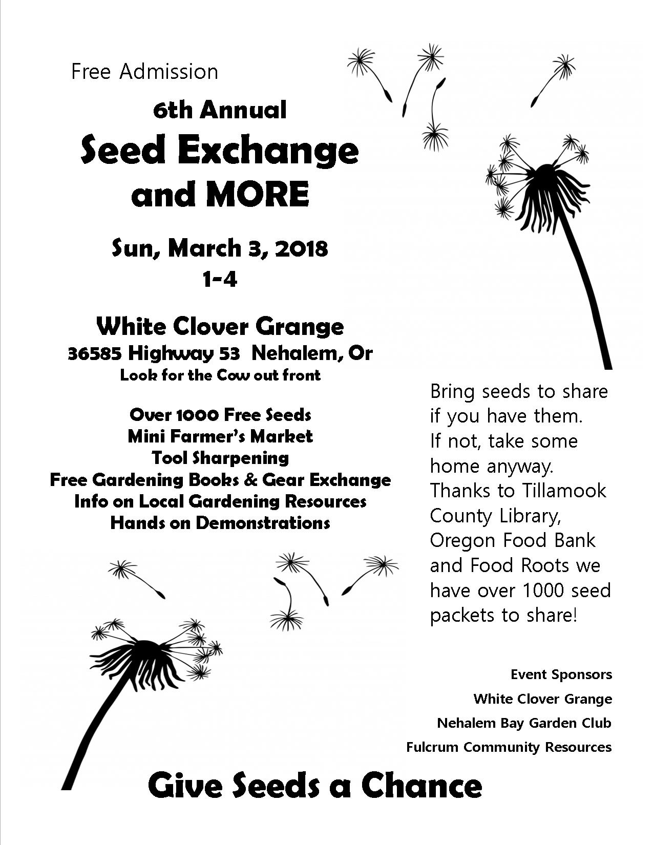 Seed Exchange 2019 poster