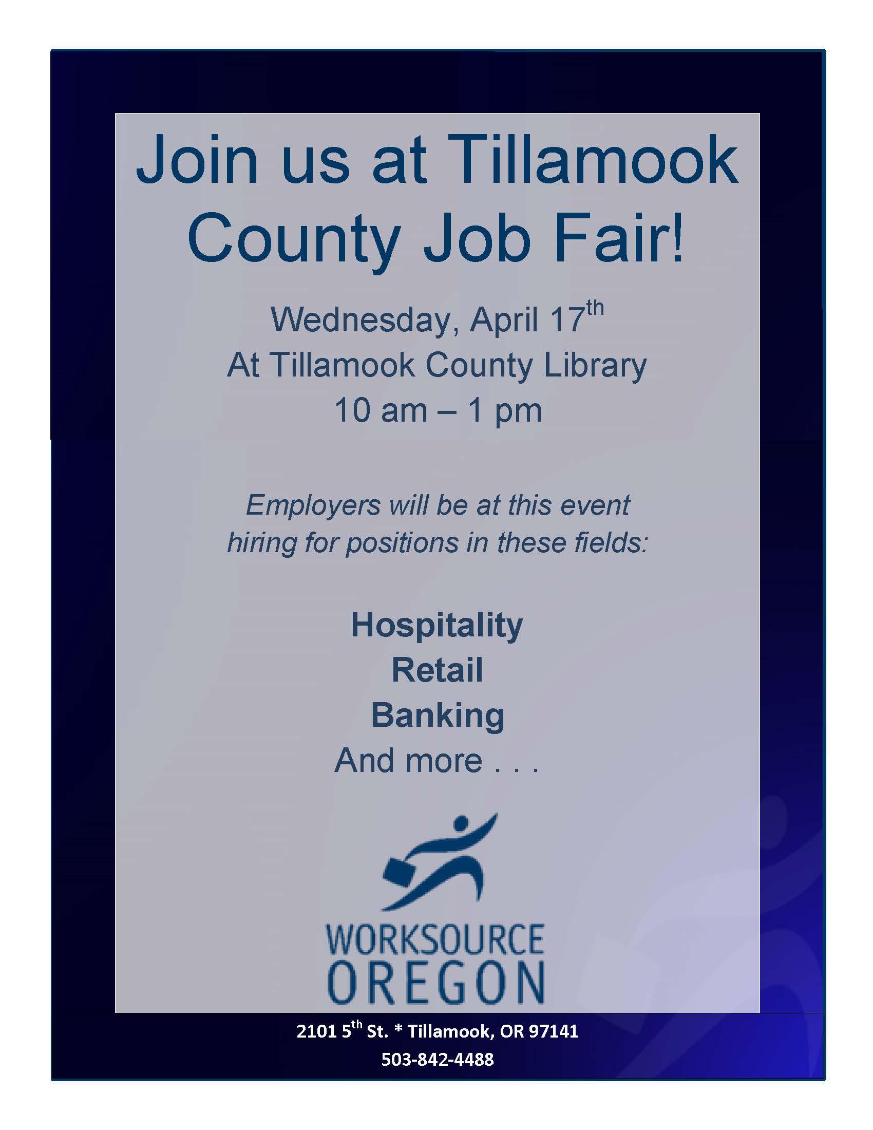 2019 Tillamook County Job Fair